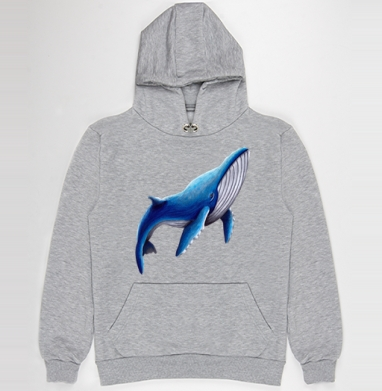 Синий кит, Толстовка Муж. меланж 300гр без начеса