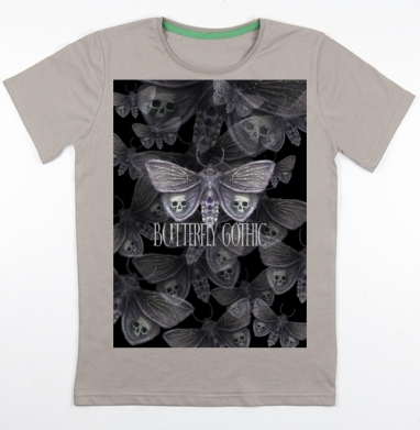 Бабочка готика, Футболка мужская св. коричневый 180гр