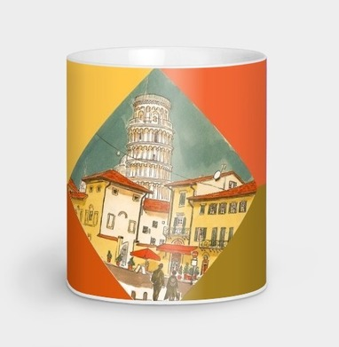 Пиза Италия - Кружки с логотипом