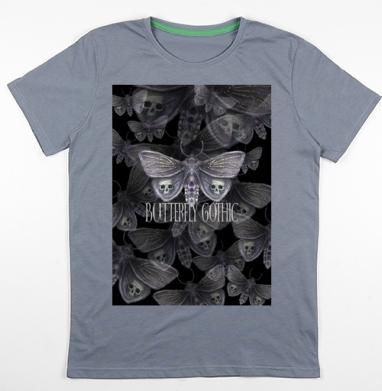 Бабочка готика, Футболка мужская св. графит 180гр