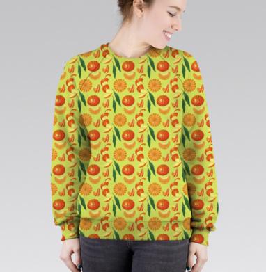 Cвитшот женский 3D - мандарины