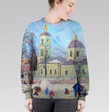 Cвитшот женский 3D - Храм иконы Божией Матери