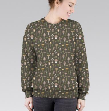 Cвитшот женский 3D - Грибы-грибочки