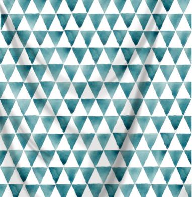Бирюзовые треугольники - акварель, Популярные