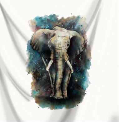 Слон акварель  - Новинки