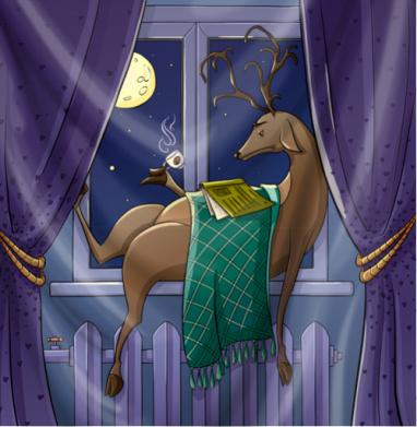 Февральский олень - иллюстация, Популярные