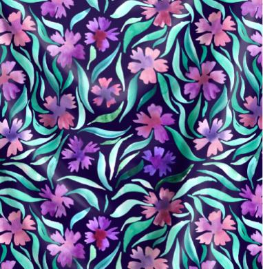 Сиреневые васильки - Печать на текстиле, новинки