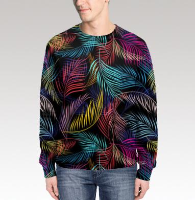 Разноцветные листья пальмы, Свитшот мужской 3D