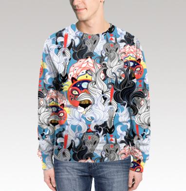Свитшот мужской без капюшона (полная запечатка), полная запечатка - Интернет магазин футболок №1 в Москве