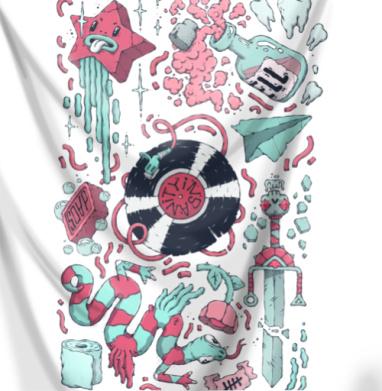 Безумие - Печать на ткани