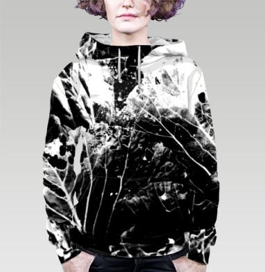 Растительное, Толстовка женская с карманом 3D