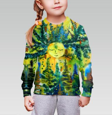 Cвитшот детский без капюшона (полная запечатка) - Добрый Дух хвойного леса