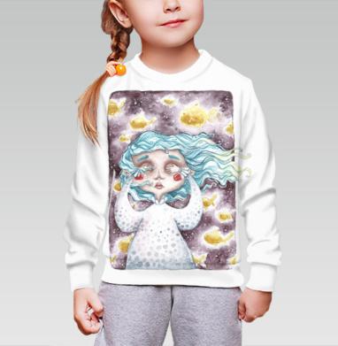 В моем сне плавали золотые рыбы, Cвитшот детский без капюшона (полная запечатка)