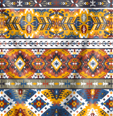 ГЕОМЕТРИЧЕСКИЙ УЗОР НАРОДНОСТЕЙ ЮЖНОЙ АМЕРИКИ - Печать на текстиле, новинки