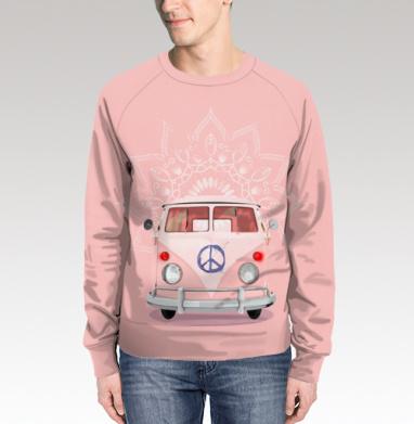 Розовый Хиппи Автобус, Свитшот мужской 3D