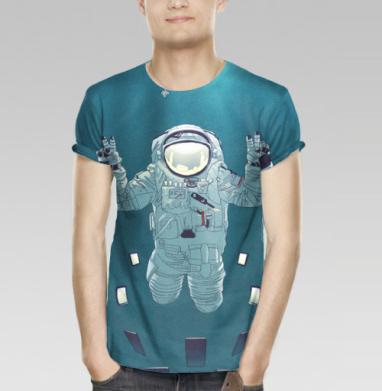 3cb4251536971 Селфи из космоса - Купить мужскую футболку с 3D принтом, 3д футболки с  рисунком недорого