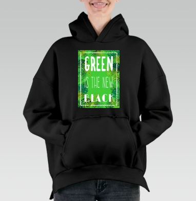 Green is the new black, Hoodie Mjhigh Black, утепленная