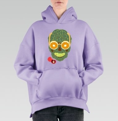 Life is beautiful, Hoodie Mjhigh Lavanda