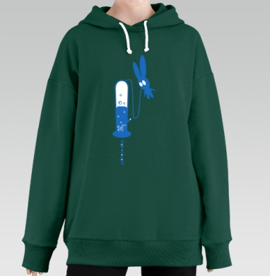 High Enough?, Hoodie Long Oversize Green