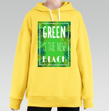 Green is the new black, Hoodie Long Oversize Yellow