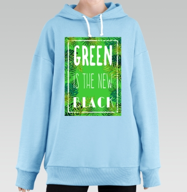 Green is the new black, Hoodie Long Oversize Blue