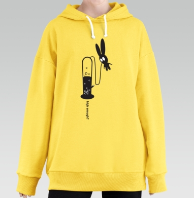 High Enough?, Hoodie Long Oversize Yellow