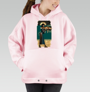 Рататата, Hoodie Oversize Pink, утепленная