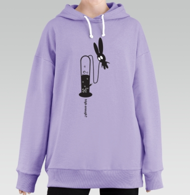 High Enough?, Hoodie Long Lavanda, утепленная