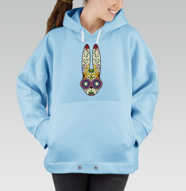 Day of the Dope, Hoodie Oversize Blue, утепленная