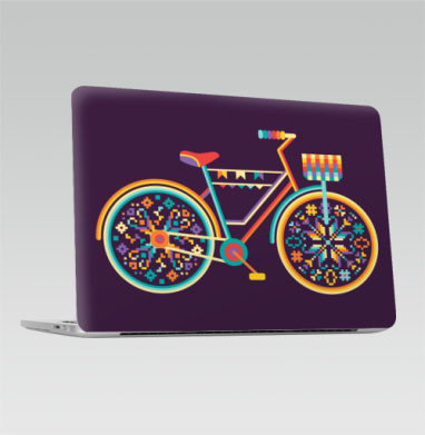 Hippie Bike - Наклейки на 2016-2018 – Macbook Pro Touch Bar