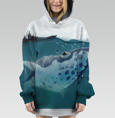Акулазаврище - Hoodie Oversize Dig 3D